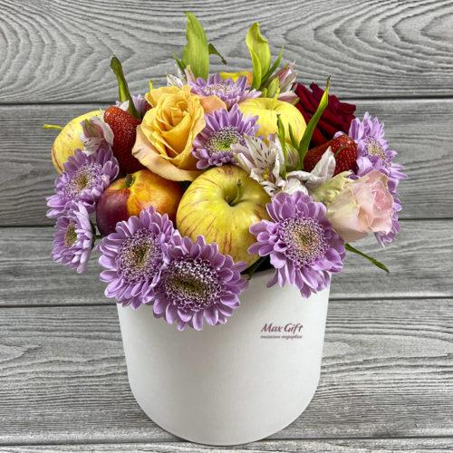 Фруктовая композиция с цветами «Солнечная поляна»