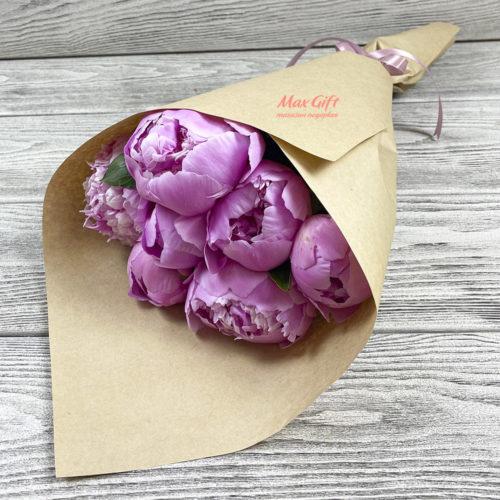 Букет из цветов «Аромат пионов»