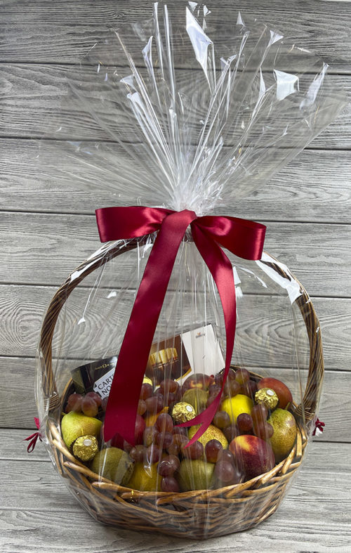 Подарочная корзина с фруктами «Осенняя пора»