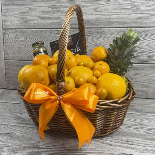 Подарочная корзина с фруктами «Апельсинка»