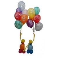 """Композиция из воздушных шаров """"Поздравляем!"""""""