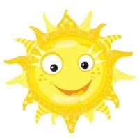 """Фольгированный шар """"Солнце"""""""