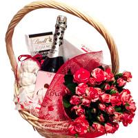 """Подарочная корзина """"Букет роз"""""""