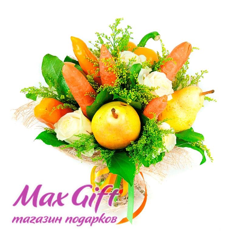 """Букет из фруктов, овощей и цветов """"Фитнес"""""""