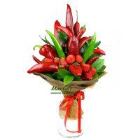 """Букет из фруктов и овощей """"The red"""""""