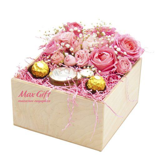 Подарочный набор с цветами «Versace»