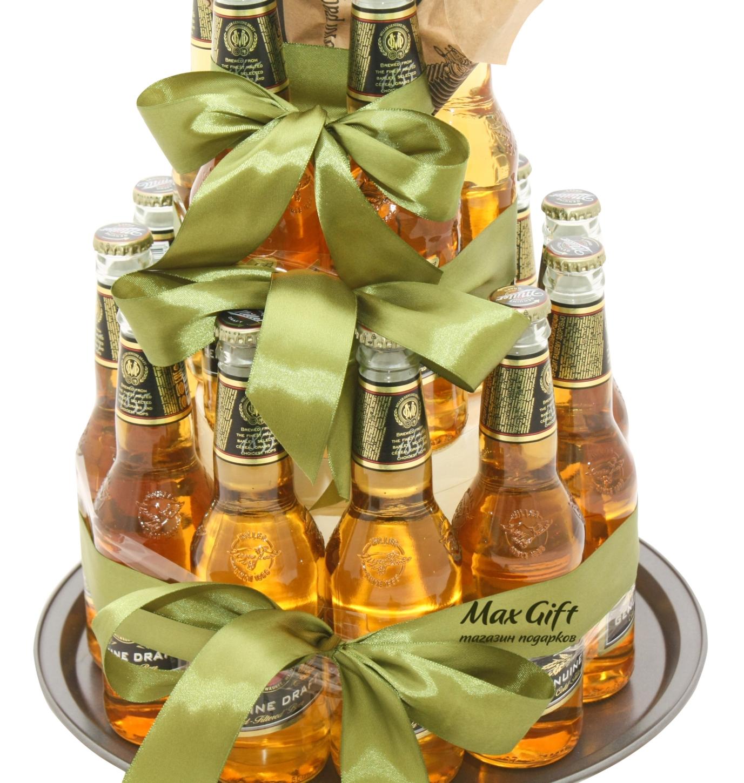 Как сделать подарок из бутылок пива