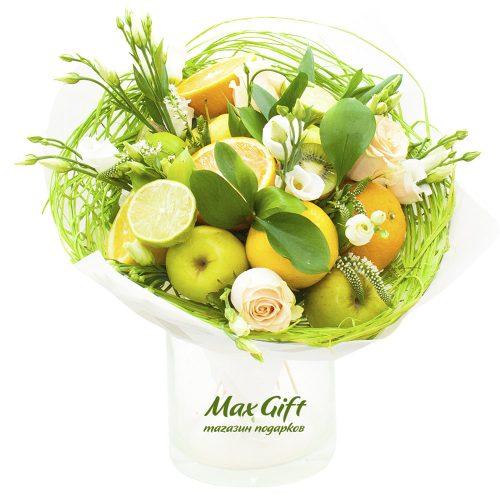 """Букет из фруктов и цветов """"Lime"""""""