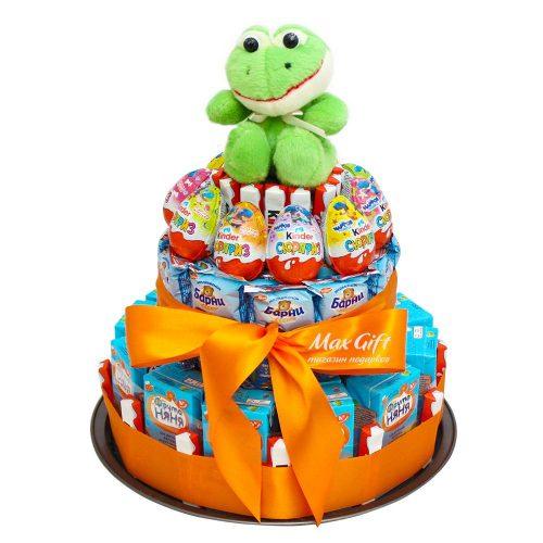 Детский торт «Ква ква»