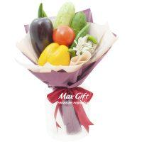 Букет из овощей и цветов «Летний сезон»