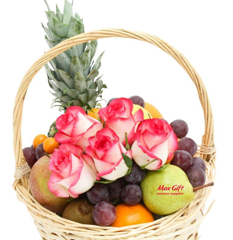 "Фруктовая корзина с цветами ""Frutti"""