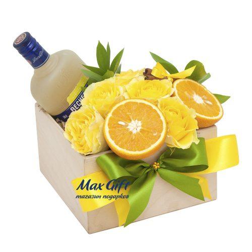 Подарочный набор с цветами «Цитрус»