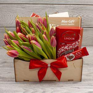 Подарочный набор с цветами «Подарок весны»