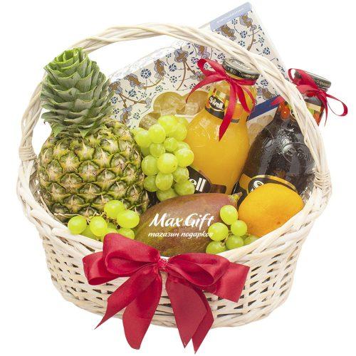 Подарочная корзина с фруктами «Лукум»