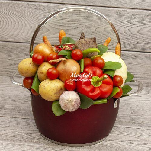 Подарочная композиция с овощами «Борщ»