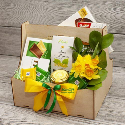 Подарочные набор с цветами «Нарциссы»