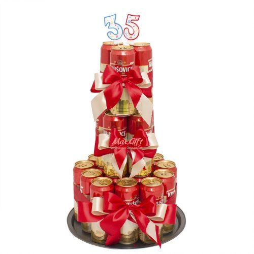 Пивной торт «Krušovice»
