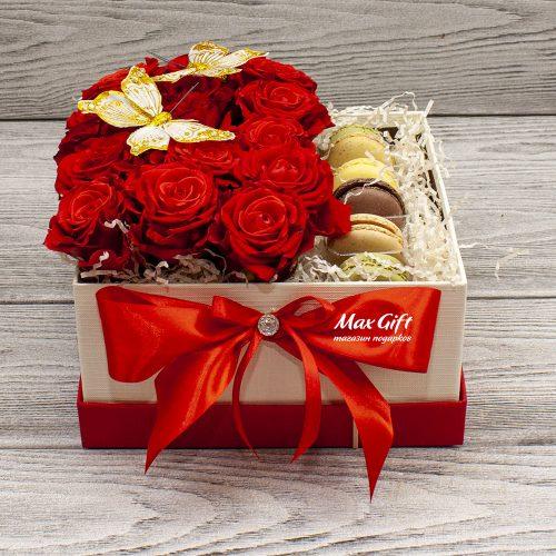 Подарочный набор с цветами «Bonjour»