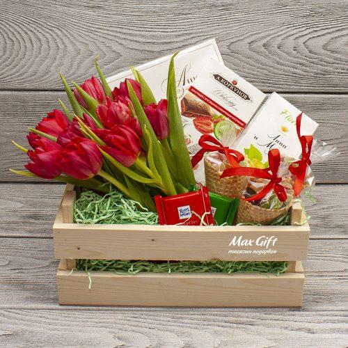 Подарочный набор с цветами «Мелисса»