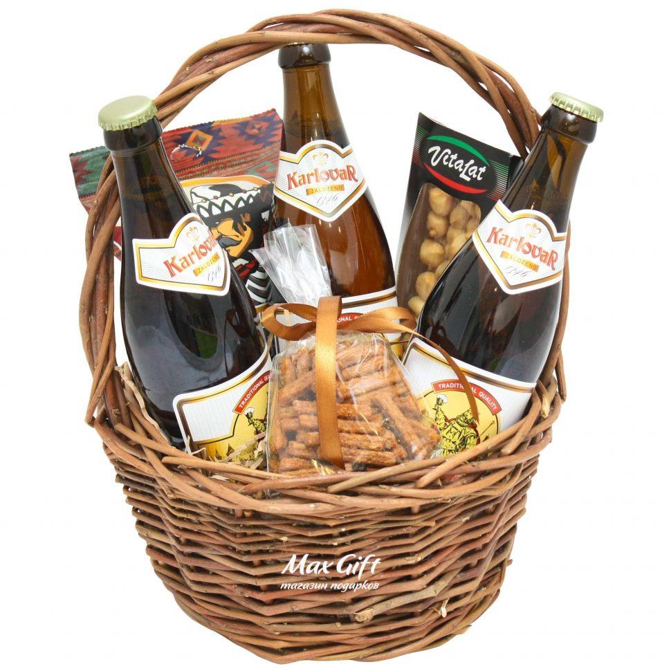 Подарок пиво в корзинке 61