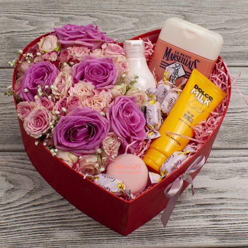 Подарочный набор с цветами «Кадриль»