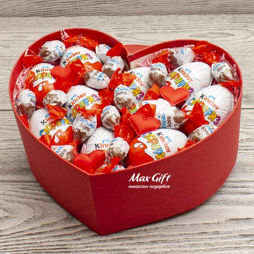Подарочный набор Сердечный Kinder сюрприз
