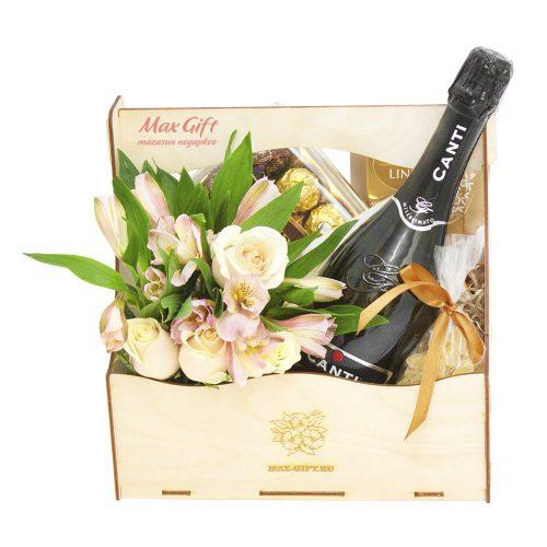 Подарочный набор с цветами «Тайна»