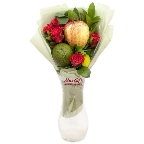 Фруктовый букет с цветами «Микс»