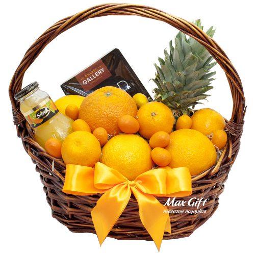"""Подарочная корзина с фруктами """"Апельсинка"""""""