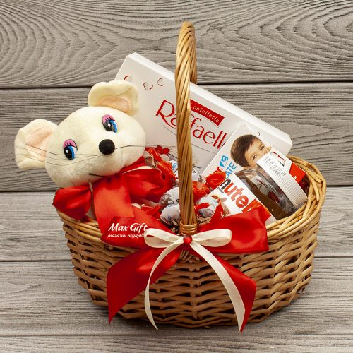 Подарочная корзина «Мышонок Усик»