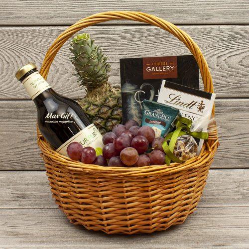 Подарочная корзина с фруктами «Со вкусом»