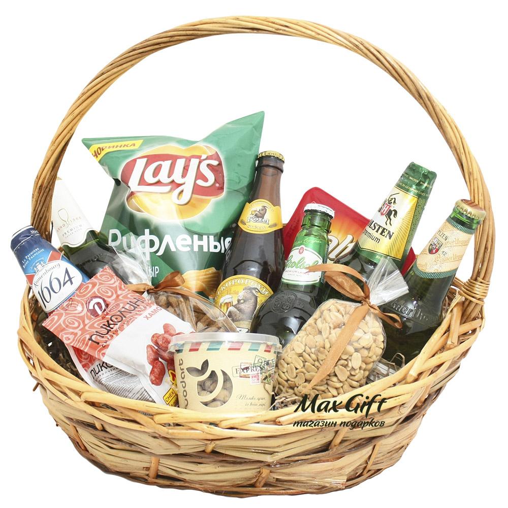 Подарок пиво в корзинке 79