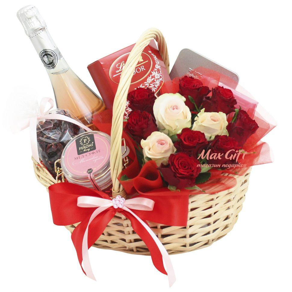 Корзина подарков для девушки 16