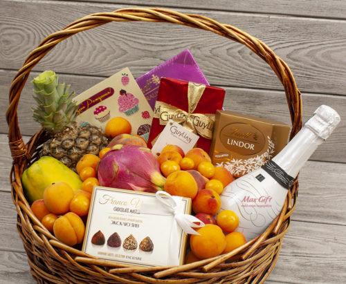 Подарочная корзина с фруктами «Летний вечер»