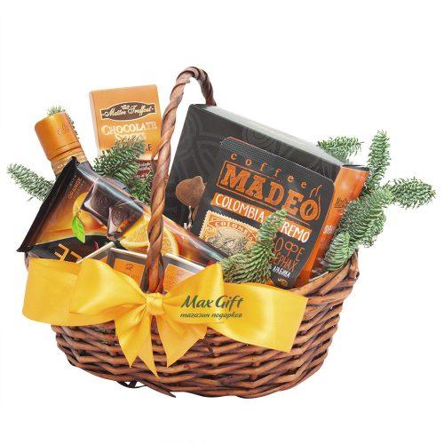 Подарочная корзина «Зимний апельсин»