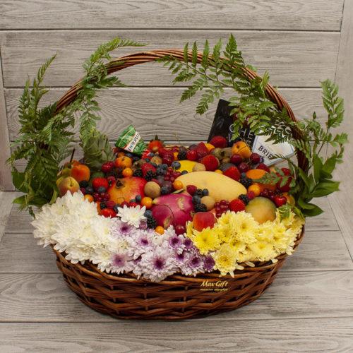 """Корзина с фруктами, цветами и ягодами """"Летние деньки"""""""