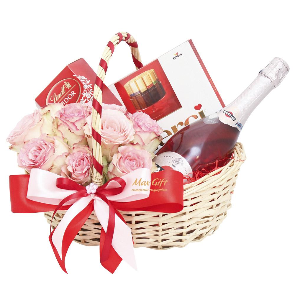 "Подарочная корзина ""Martini Rose"""