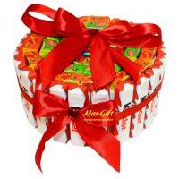 "Торт из конфет ""Love is ..."""