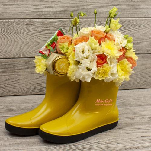 Подарочный набор с цветами «Летний дождь»