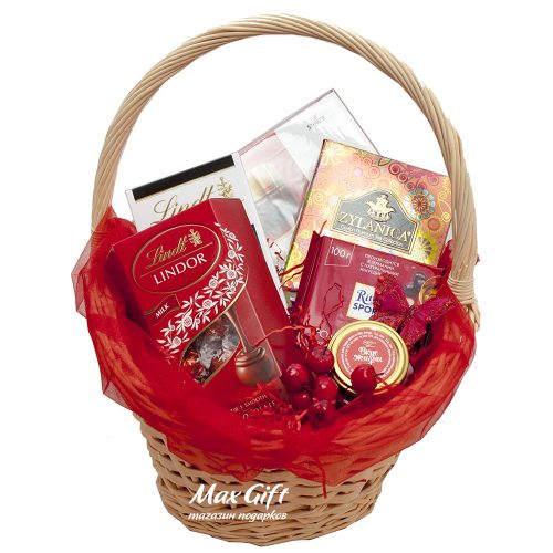 Подарочная корзина «Красная краса»