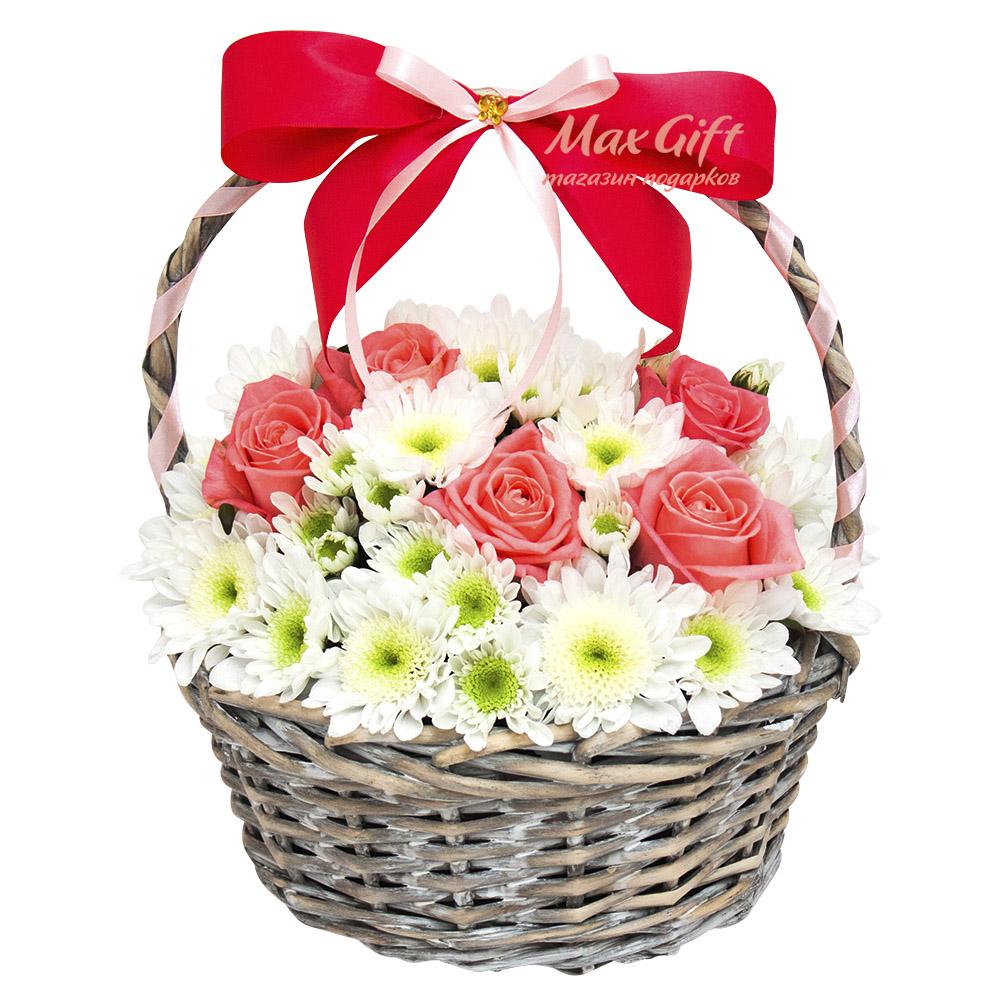 Подарочная корзина с цветами «Фея»