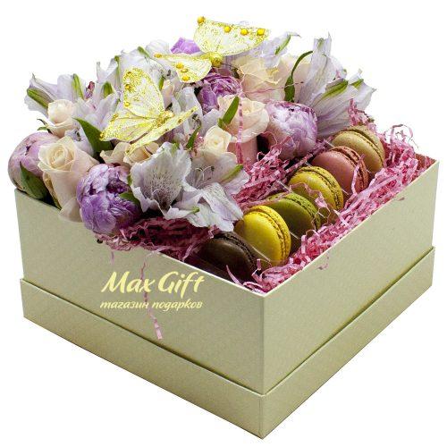 Подарочный набор с цветами «Утро в Париже»