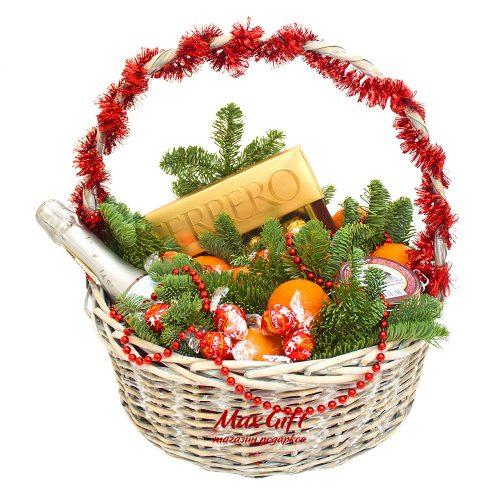 Подарочная корзина с фруктами «Новогодняя тайна