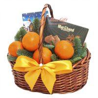 Подарочная корзина с фруктами «Зимнее солнце»