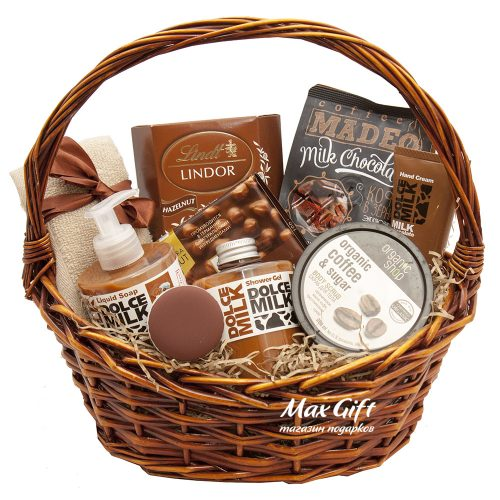 Подарочная корзина «Молочный шоколад»