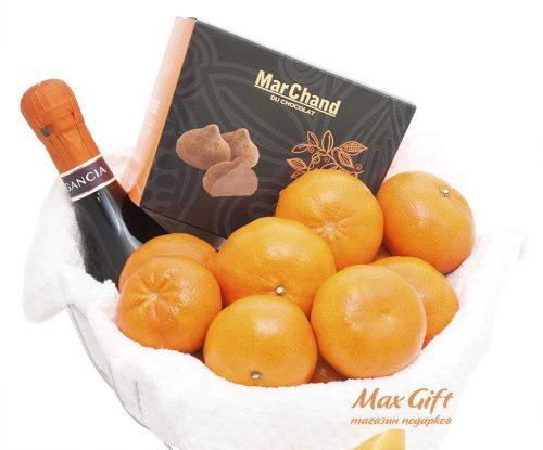 Подарочный набор с фруктами «Мандариновый рай»