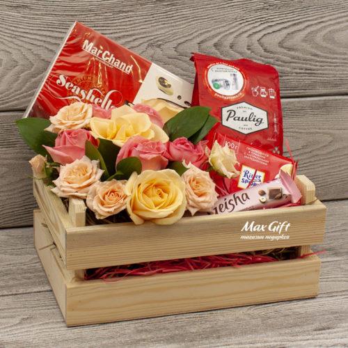 Подарочный набор с цветами «Жозефина»