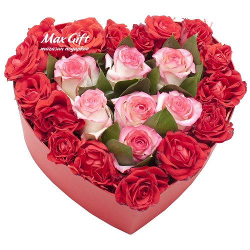 Цветочная композиция «Я люблю тебя»