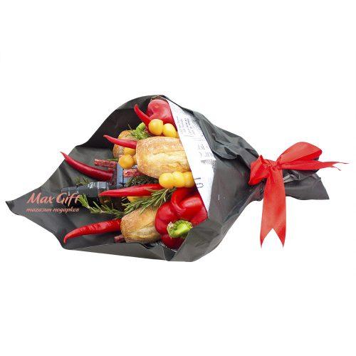 Букет из овощей, колбасы и сыра «Pepper»