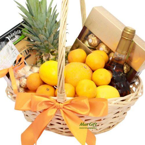 """Подарочная корзина с фруктами """"Солнечный поцелуй"""""""